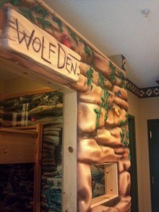 Wolf-den at Great Wolf Lodge