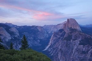 glacier point at yosmemite national park during sunset