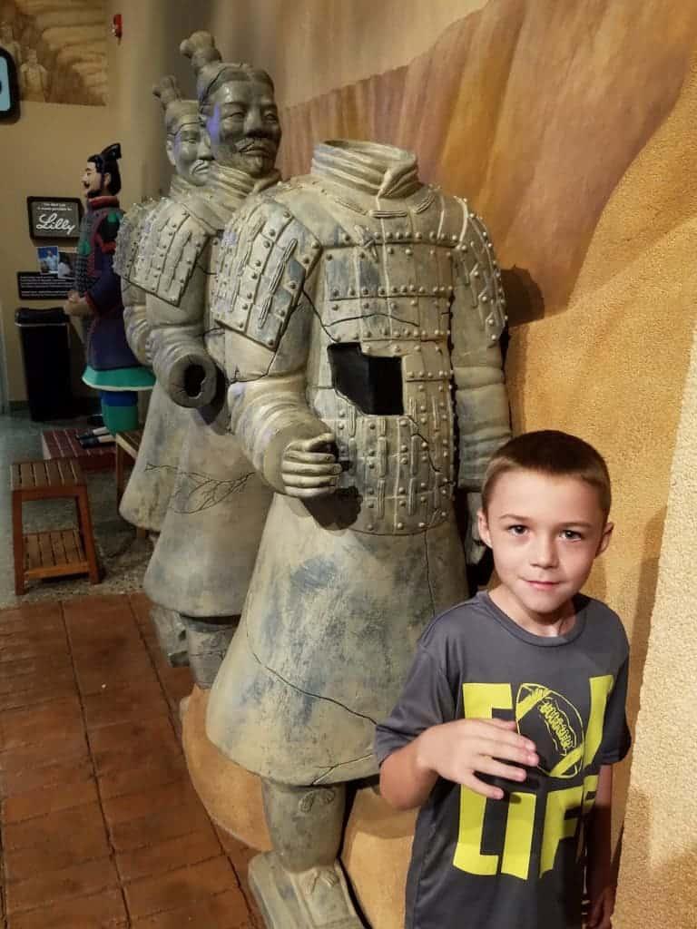 Terra Cotta Warrior Exhibit at the Children's Museum of Cincinnati