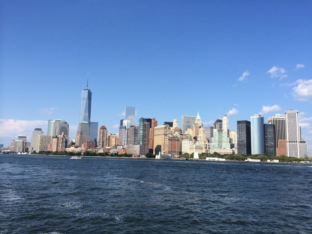 Manhatten from the ferry NYC, NY